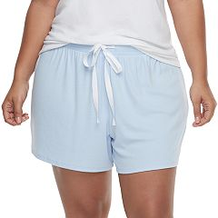 Plus Size SONOMA Goods for Life™ Ribbed Pajama Shorts