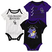 Baby Colorado Rockies 3 pkBodysuits