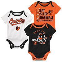 Baby Baltimore Orioles 3-pk. Bodysuits