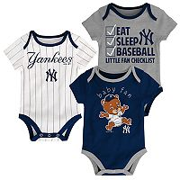 Baby New York Yankees 3-pk. Bodysuits