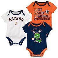 Baby Houston Astros 3 pkBodysuits