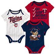Baby Minnesota Twins 3 pkBodysuits