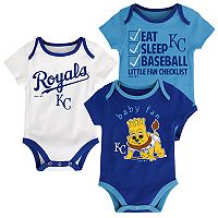 Baby Kansas City Royals 3 pkBodysuits