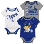 Baby Los Angeles Dodgers 3-pk. Bodysuits