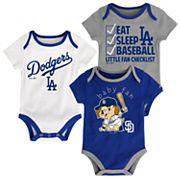 Baby Los Angeles Dodgers 3 pkBodysuits