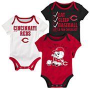 Baby Cincinnati Reds 3 pkBodysuits