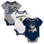 Baby Milwaukee Brewers 3 pkBodysuits