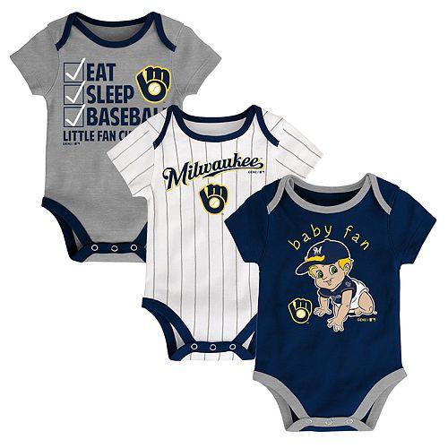 215b0e39e9c61 Baby Milwaukee Brewers 3 Pk. Bodysuits by Kohl s