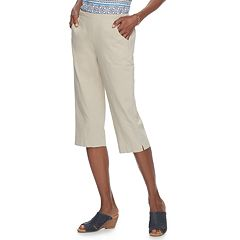 Women's Croft & Barrow® Pull-On Sheeting Capris