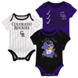Baby Colorado Rockies 3-pk. Bodysuits
