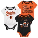 Baby Baltimore Orioles 3 pkBodysuits