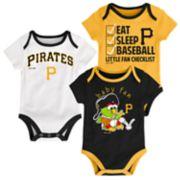 Baby Pittsburgh Pirates 3-pk. Bodysuits