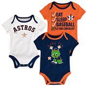 Baby Houston Astros 3 pkBodysuits