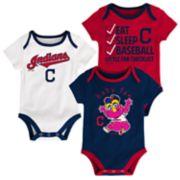 Baby Cleveland Indians 3-pk. Bodysuits