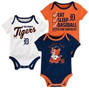 Baby Detroit Tigers 3 pkBodysuits
