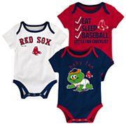 Baby Boston Red Sox 3 pkBodysuits