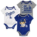 Baby Los Angeles Dodgers 3-pk. Bodysuits