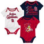 Baby St. Louis Cardinals 3 pkBodysuits