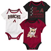 Baby Arizona Diamondbacks 3 pkBodysuits
