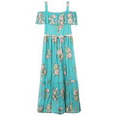 Girls 7-16 Speechless Off Shoulder Floral Printed Maxi Dress