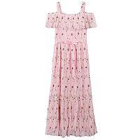 Girls 7-16 Speechless Off Shoulder Floral Printed Maxi Dress