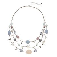 Beaded Illusion 3 Row Necklace