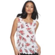 Women's ELLE? Scallop Trim Tank