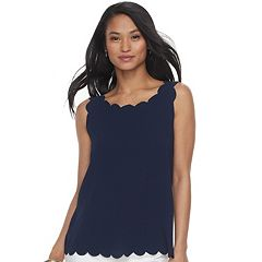 Women's ELLE™ Scallop Trim Tank