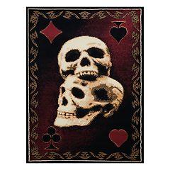 United Weavers Legends Skulls Printed Rug - 5'3'' x 7'2''