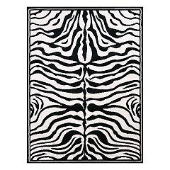 United Weavers Legends Zebra Skin Printed Rug - 5'3'' x 7'2''