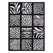 United Weavers Legends Cubic Zebra Printed Rug - 5'3'' x 7'2''