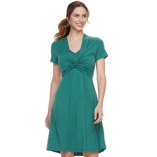 Maternity a:glow Knot Nursing Dress