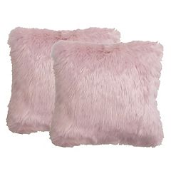 The Big One® Pink Faux-Fur 2-pack Throw Pillow Set