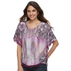 Women's World Unity Printed Popover Top