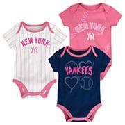 Baby New York Yankees 3 pkBodysuits