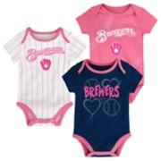 Baby Milwaukee Brewers 3-pk. Bodysuits