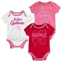 Baby St. Louis Cardinals 3-pk. Bodysuits