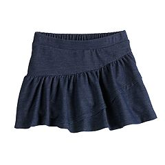 Toddler Girl Jumping Beans® Faux Denim Tiered Skort