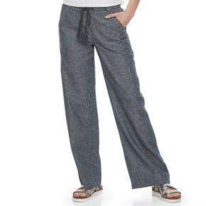 Juniors' Rewind Wide-Leg Linen Pants