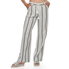 Juniors' Rewind Wide-Leg Linen Pants