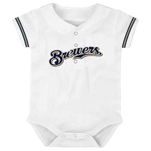 Baby Milwaukee Brewers Jersey Bodysuit