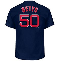 Big & Tall Majestic Boston Red Sox Mookie Betts Name and Number Tee