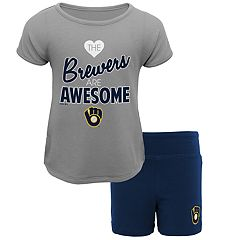 Toddler Milwaukee Brewers Awesome Tee & Yoga Shorts Set