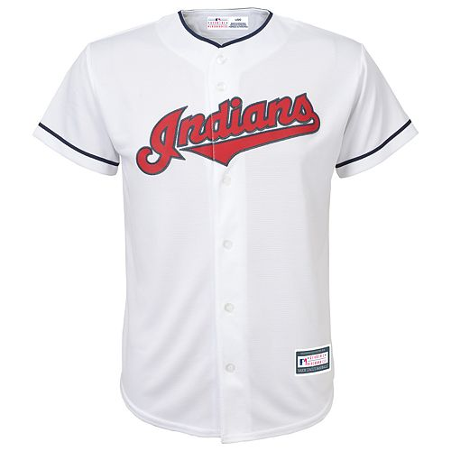 Boys 8-20 Cleveland Indians Home Replica Jersey
