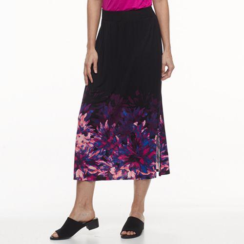 2349f34d7 Petite Dana Buchman Slit Maxi Skirt