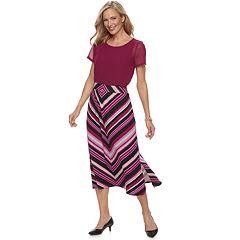 Petite Dana Buchman Slit Maxi Skirt