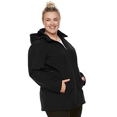 Plus Size ZeroXposur Nicky Soft Shell Hooded Jacket