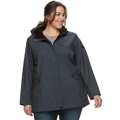Plus Size ZeroXposur Giselle Hooded Soft Shell Jacket