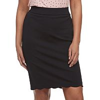 Women's ELLE™ Scallop Hem Pencil Skirt