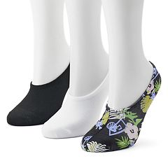 Women's Converse Made for Chucks 3-Pack Floral Liner Socks